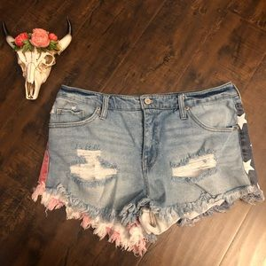 Mossimo high rise distressed shorts